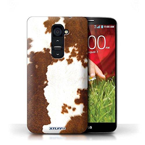 Kobalt® Imprimé Etui / Coque pour LG G2 / Zèbre conception / Série Motif Fourrure Animale Vache/Brown