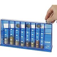 HMF 4710-05 Clasificador de monedas, alcancía para colecta 24 x 5 x 12