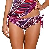 Ava STF-10/2 Bas De Bikini Taille Normale Culotte Feminine Top Qualité Piece Du Set Laçage- Fabriqué En UE, rose,S