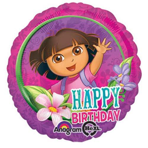 Anagram Folienballon 2708102Dora Happy Birthday, 45,7cm farbenreiche