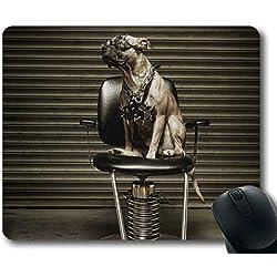 Gaming-Mauspad, Pitbull-Hund aus Animal Dog Cat, Präzisionsnaht, strapazierfähiges Mauspad