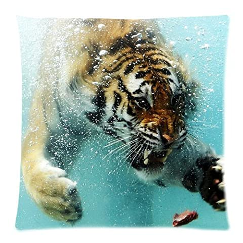 Honey Cushion Cover Tiger Decorative Pillow Case Protector 18x18 Inch One Side