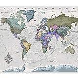 murando Fotomurales Mapa del mundo 400x280 cm XXL Papel pintado tejido no tejido Decoración de Pared decorativos Murales moderna de Diseno Fotográfico Mapa k-A-0380-a-a