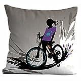 """Custodia per cuscino """"Ciclista, misura 50x 50cm"""