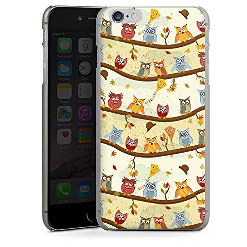 Apple iPhone X Silikon Hülle Case Schutzhülle Eulen Muster Eule Hard Case anthrazit-klar