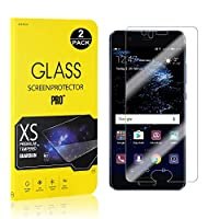 SONWO Huawei P10 Screen Protector, Screen Glass Anti Fingerprint Tempered Glass for Huawei P10, 3D Touch Support, 9H Hardness, Bubble Free, 2-Pack