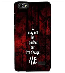 PrintDhaba Quote D-4764 Back Case Cover for HUAWEI HONOR 4C (Multi-Coloured)
