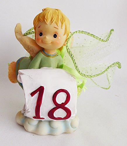 Bomboniera in resina con tulle angelo 18 anni (zelda1995)