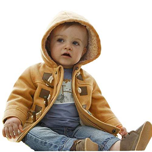 OSYARD Baby Jungen Mäntel Winterparka Jacken, Kinder Reißverschluss Outwear Winter Warme Gepolsterte Jacke mit Kapuze,Kleinkind Trenchcoat Wollmantel Parka Wintermantel Outdoorjacke Baumwollemäntel
