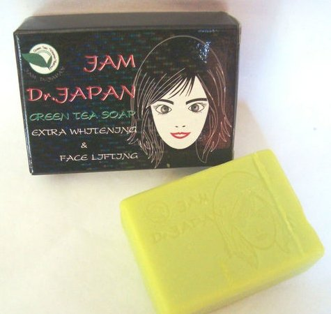 JAM Dr.Japan Green Tea Extra Whitening Cleanser and Face Lift Soap 70g./2.5oz.