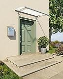 Palram Vordach, Regenschutz, Überdachung Capella 1500 frost inkl. Regenrinne // 151x92 cm (BxT) // Pultvordach und Türüberdachung