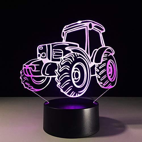 GBBCD Nachtlicht 3D Led Tischlampe Motor Automobil Geformt Nachtlicht 7 Farben Visuelle Nacht Kind Geschenke Usb Wohnkultur Auto Traktor Leuchte - Automobil-motoren