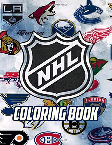NHL Coloring Book: All National Hockey League Team Logos