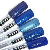 Color Gel 5er Set (je 5ml): Special Blue Nails - Kollektion - Gel Blau, Gel Türkis, Gel Dunkelblau