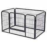 Jalano Welpenauslauf Welpengitter Laufstall für Hunde Katzen Hasen Zaun 4-teilig
