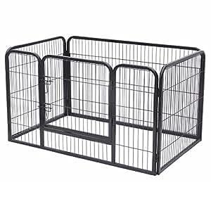 jalano welpenauslauf welpengitter laufstall f r hunde katzen hasen zaun 4 teilig. Black Bedroom Furniture Sets. Home Design Ideas