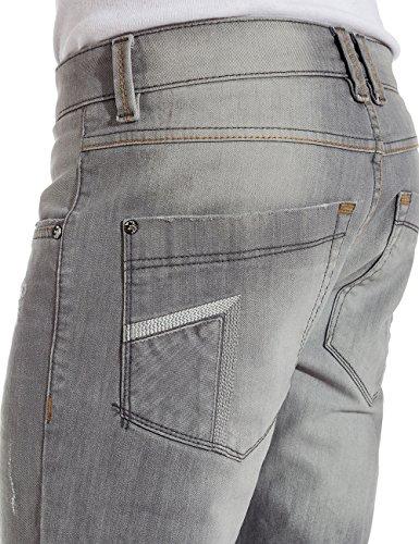 Timezone Herren Skinny Jeanshose EdoTZ Blau (smoky wash 3781)