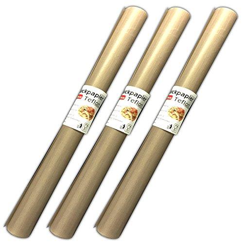 HAC24 3 Stück Antihaft Dauerbackfolie Backpapier Teflon Dauerbackpapier Backtrennfolie