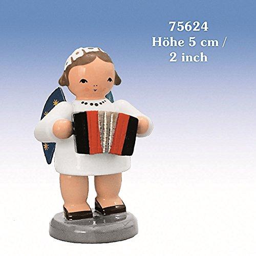 Engel mit Harmonika 5 cm NEU Holzengel Deko Figur Erzgebirge