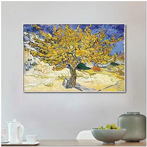 Danjiao Olivenbaum Von Van Gogh Ölgemälde Leinwanddruck Wandbild Für Wohnzimmer Impressionist Poster Und Drucken Dekoration Wohnzimmer 60x90cm
