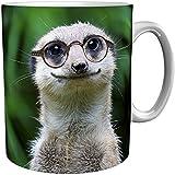 metALUm Kaffeebecher/Kaffeetasse / Erdmännchen/Geschenktasse Nicht Nur für Kollegen