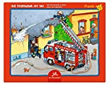 Spiegelburg Puzzle con Marco de 15 piezas Los Bomberos Están Aquí!