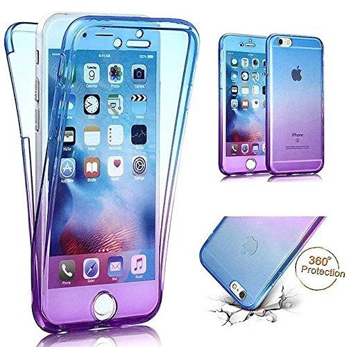 Etsue TPU Schutzhülle für iPhone 7 Plus 5.5 Zoll 2016 Silikon Handyhülle, Gradient Farbe Muster Einzigartig Regenbogen TPU Silikon Handytasche Weiche Schlank TPU Silikon Cover Ultradünnen Kristall Kla Regenbogen,#5