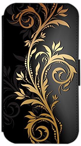 Kuna Flip Cover für Apple iPhone 5 / 5s Design K216 Eifelturm Paris Schwarz Rot Auto Hülle aus Kunst-Leder Handy Tasche Etui mit Kreditkartenfächern Schutzhülle Case Wallet Buchflip Rückseite Schwarz  K214