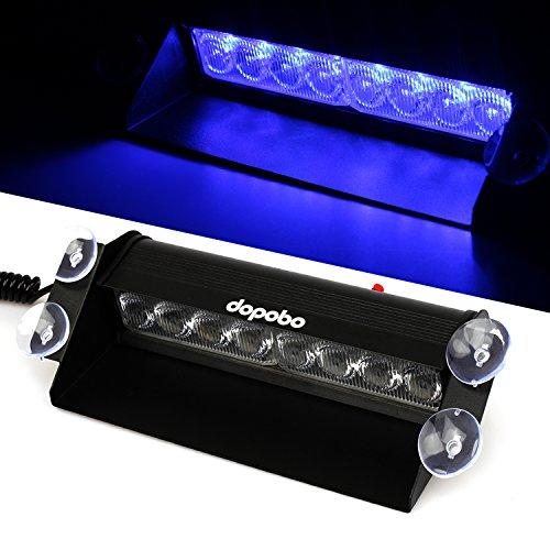 Preisvergleich Produktbild Dopobo 8 LED Straßenräumer, Frontblitzer - Feuerwehr - Polizei (Blau)