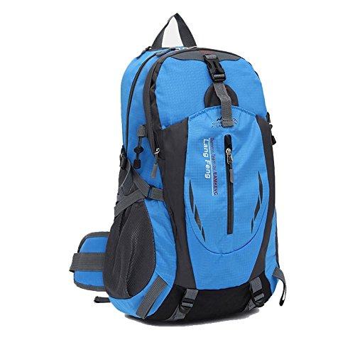 SZH&BEIB Wanderrucksack 35L wasserdichte Freizeit für Outdoor-Reisen Camping Bergsteigen Tasche E