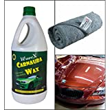 Wavex Brazilian Carnauba Wax Car Polish (1L) + Micro Fiber Cloth