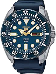 Seiko Mens Quartz Watch, Analog Display and Rubber Strap SRP605K2