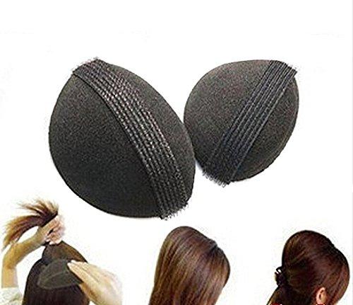 Base de utensilios para aumentar el volumen del cabello Estilismo Insertar Herramienta Hacer colmena pelo Styler mujeres pelo estilo para enrollar el cabello, hacer moños y trenzas accesorios para el pelo, color negro