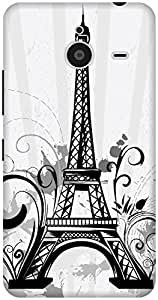 The Racoon Grip Doodle Eiffel Tower hard plastic printed back case / cover for Microsoft Lumia 640 XL