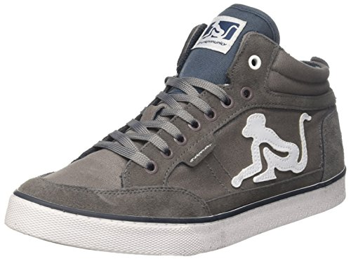 DrunknMunky Boston Classic Sneaker a Collo Alto Uomo, Grigio (Gray/Blue) 42 EU