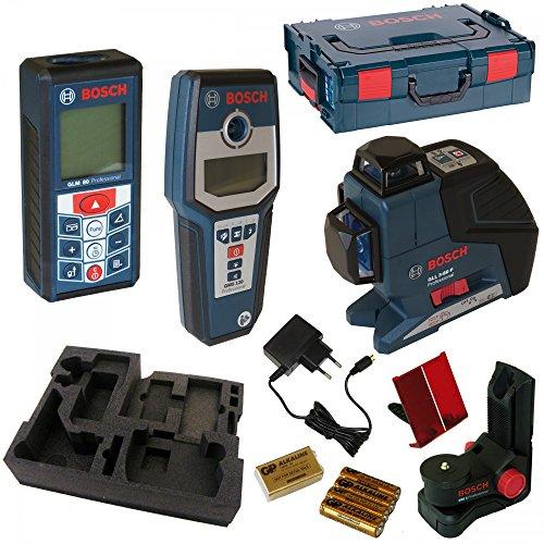 Preisvergleich Produktbild Bosch Laserset GLL 3-80P + BM1 + GLM80 + GMS 120 in der L-Boxx Gr. 2 (inklusive Schaumstoffeinlage Messtechnik)