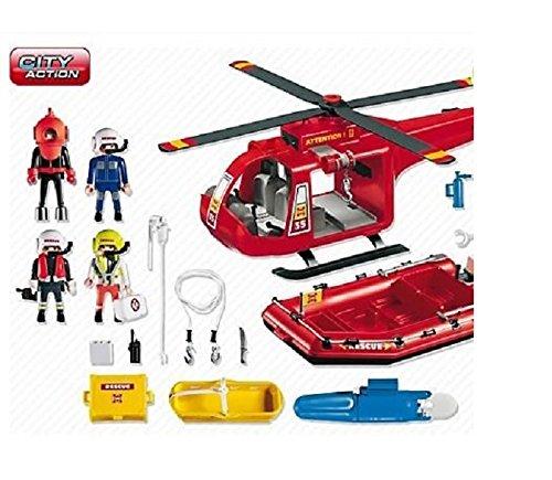 Imagen principal de Playmobil 4428 - Helicóptero y bote de rescate