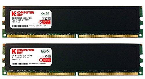 Komputerbay 4GB 2X2GB DDR2 1066MHz PC2-8500 (240 PIN) DIMM Desktop-Speicher mit Heatspreader -