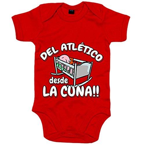 Body bebé Del Atlético Madrd  desde la cuna fútbol - Rojo, 12-18 me