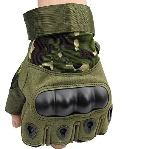 HOUMU rutschfeste verschleißfeste und dauerhafte Taktische Sporthalbfinger-Multifunktionshandschuhe, Outdoor-Fitnesshalbfinger-Hartschalenmänner-Motorrad-Armee-Fanhandschuhe,C - Usa Fingerlose Handschuhe