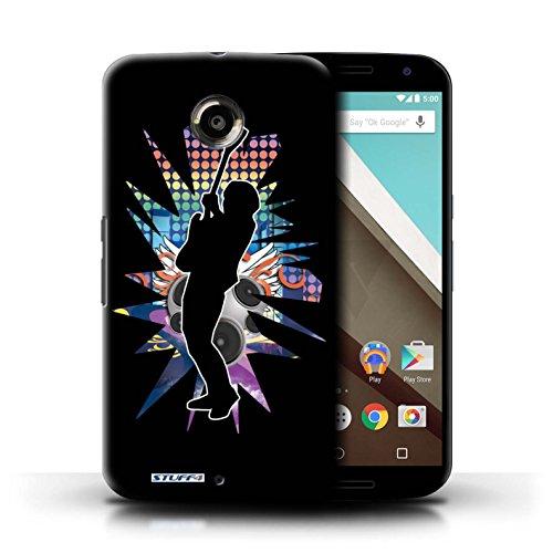 Kobalt® Imprimé Etui / Coque pour Motorola Nexus 6 / Elvis Noir conception / Série Rock Star Pose Hendrix Noir