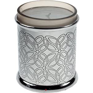 Pewter Triquetra Pattern Votive Candle Holder 3.5 inch - with Candle