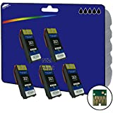 5 XL E2621 Black non-original Cartridges for Epson Expression Premium XP-510, XP-520, XP-600, XP-605, XP-610, XP-615, XP-620, XP-625, XP-700, XP-710, XP-720, XP-800, XP-810, XP-820 - non-OEM Compatible Printer Cartridges