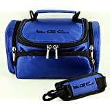 TGC Blue Shoulder Camera Case for Polaroid SLR Polaroid is2132 Bridge Cameras & Camcorders
