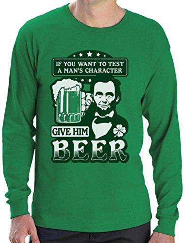 Ideen Kostüm Sevens (St.Patrick's Party Abe Lincoln Beer Bier Clover Kleeblatt Irish Langarm T-Shirt XX-Large)