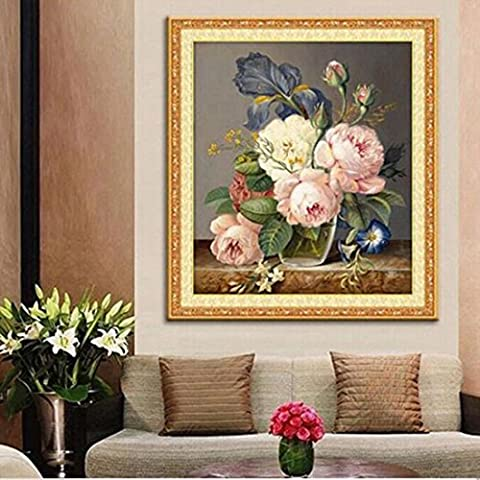 5D Diamond Embroidery Diamond Mosaic Flower Picture 3D Diy Painting Needlework Flores Canvas Canvas Gift by joyliveCY