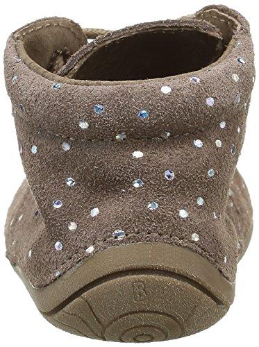 Babybotte Zoo, Chaussures Quatre Pattes (1-10 mois) Bébé Fille Marron (086 Taupe/Pois Argent)