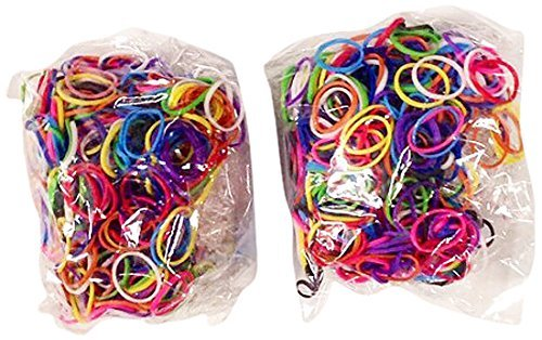-Piece Do-It-Yourself Bracelet Kit Refill Pack Rubber Band and S-Clips for Loom Art/Kids Craft with Rainbow, Multicolor by Bluedot Trading ()