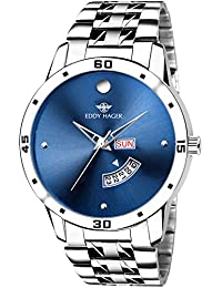 Eddy Hager Blue Day and Date Men's Watch EH-210-BL