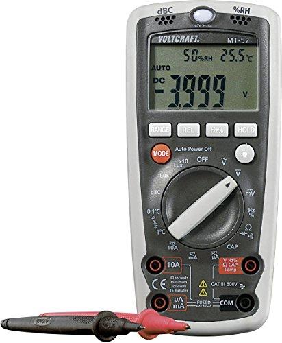 Voltcraft MT-52 Hand-Multimeter digital Umwelt-Messfunktion CAT III 600V Anzeige (Counts): 4000